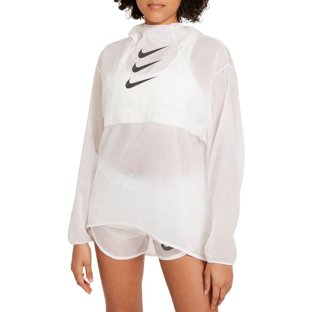 ナイキ レディース ランニング・ウォーキング アウター White 【サイズ交換無料】 ナイキ Nike レディース ランニング・ウォーキング ジャケット アウター【Run Division Packable Running Jacket】White