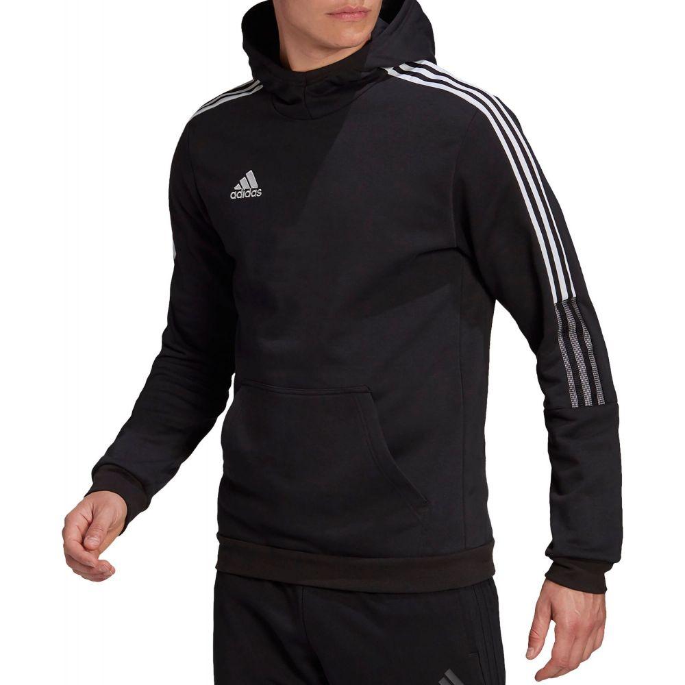 アディダス メンズ サッカー トップス マーケット Black サイズ交換無料 高価値 adidas 21 Hoodie パーカー Tiro