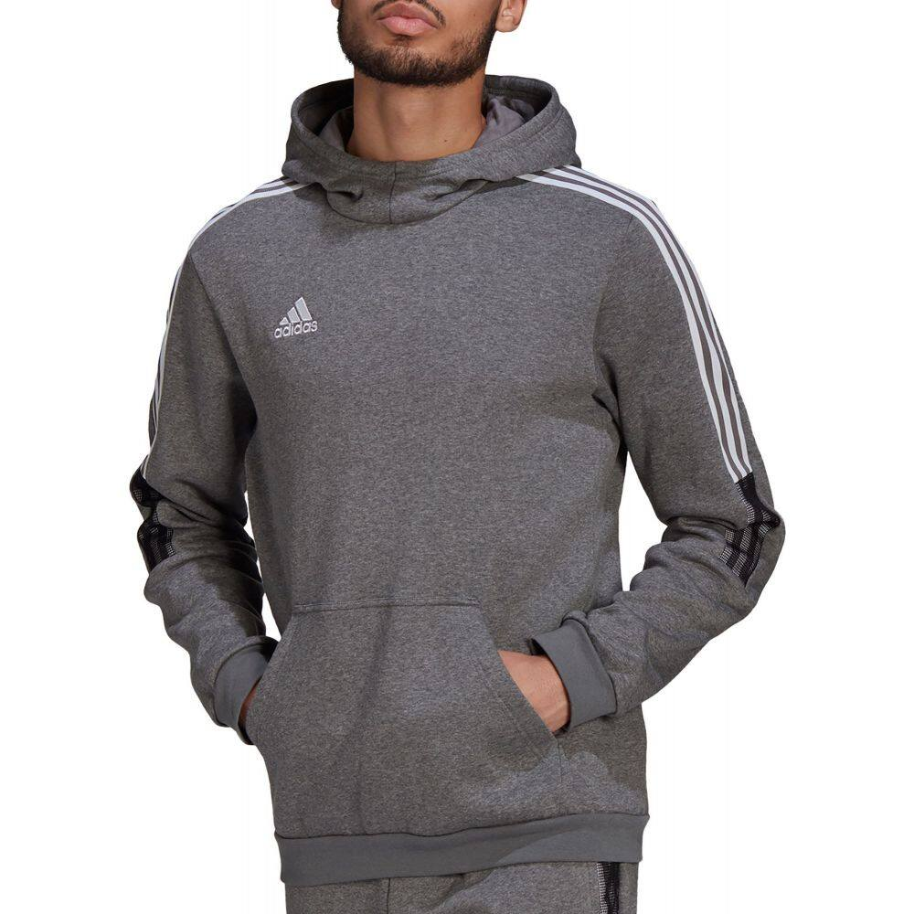 アディダス 超人気 メンズ キャンペーンもお見逃しなく サッカー トップス Grey サイズ交換無料 adidas Hoodie Tiro パーカー 21