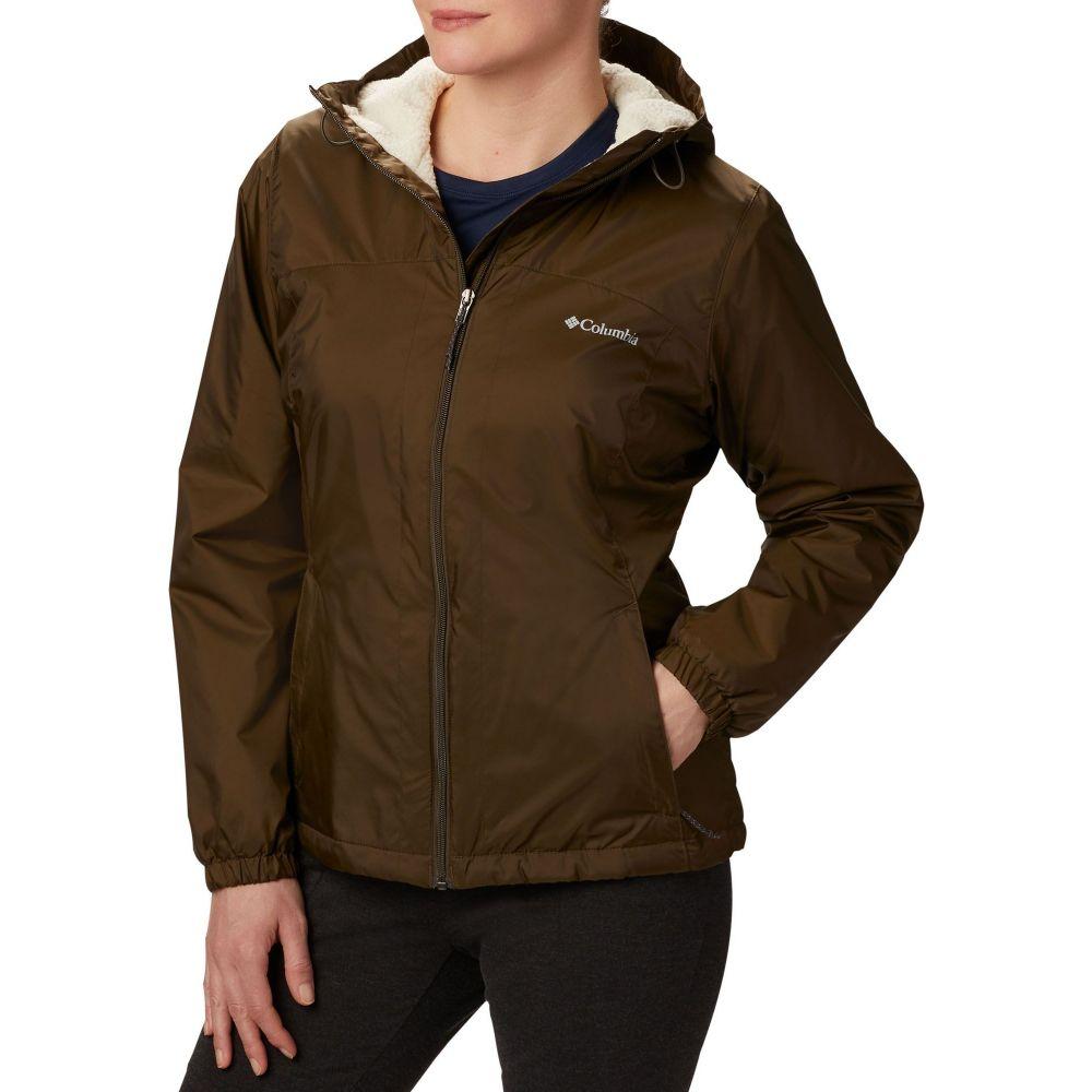 コロンビア セットアップ レディース アウター ジャケット Olive 最安値挑戦 Green Columbia Switchback Lined Sherpa Jacket サイズ交換無料