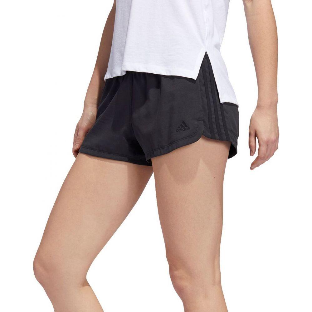 アディダス レディース ラクロス ボトムス 出群 パンツ Black Heather 3Stripe ショートパンツ Pacer adidas Shorts Woven サイズ交換無料 代引き不可
