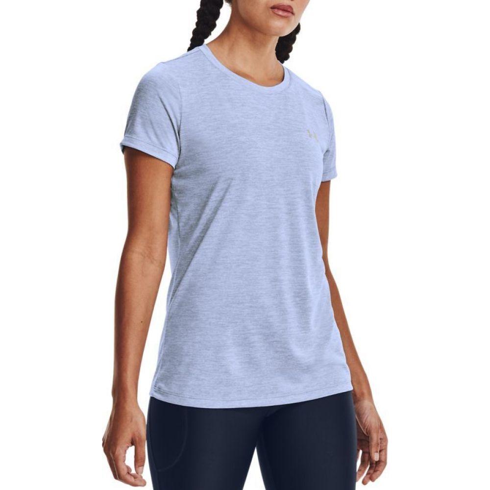 アンダーアーマー レディース ラクロス 安い 激安 プチプラ 高品質 トップス Washed Blue サイズ交換無料 Armour Under Tシャツ Twist 送料込 Tech Crewneck T-Shirt