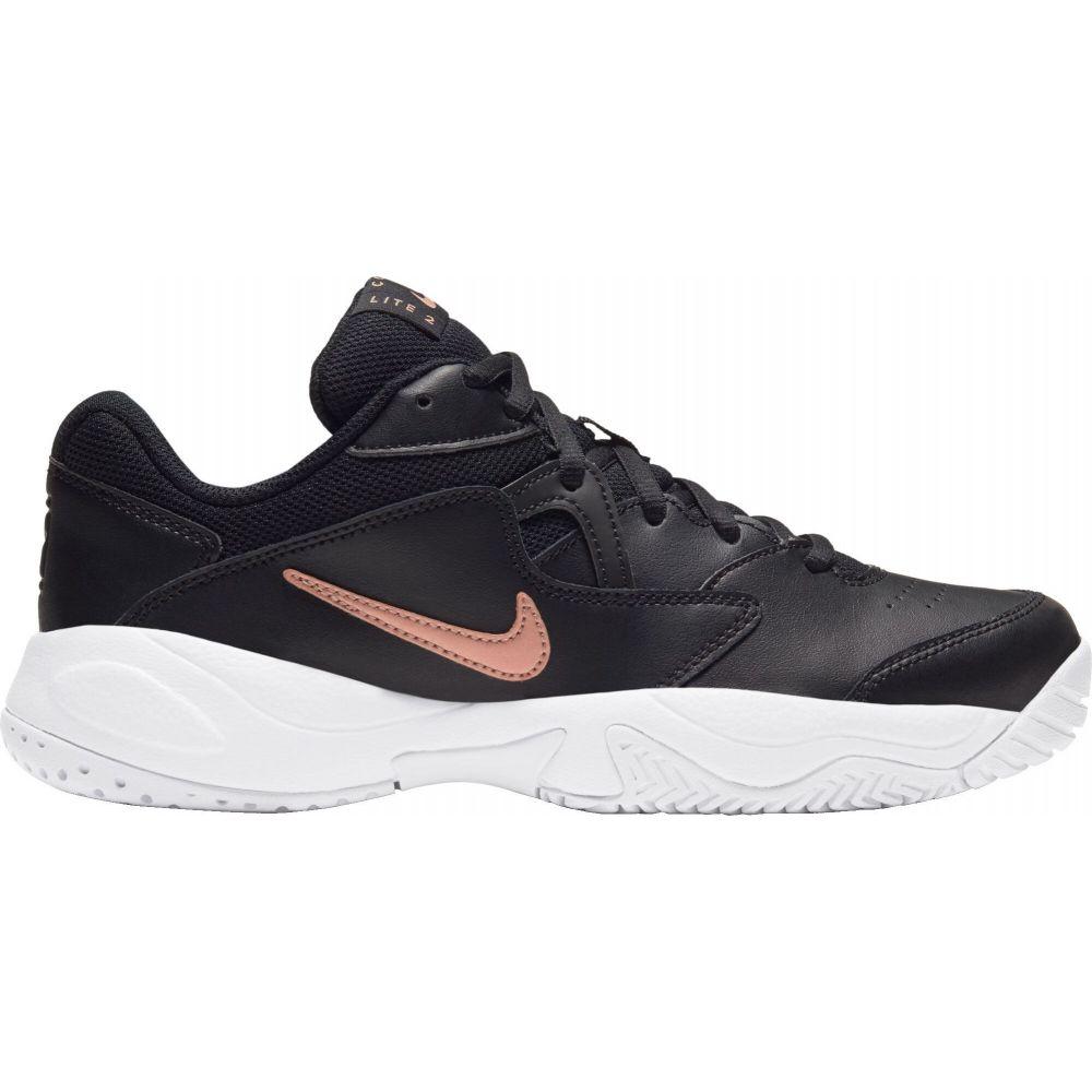 ナイキ レディース テニス シューズ 靴 Black Red Tennis サイズ交換無料 Nike 2 ※アウトレット品 ☆送料無料☆ 当日発送可能 Court Lite Shoes