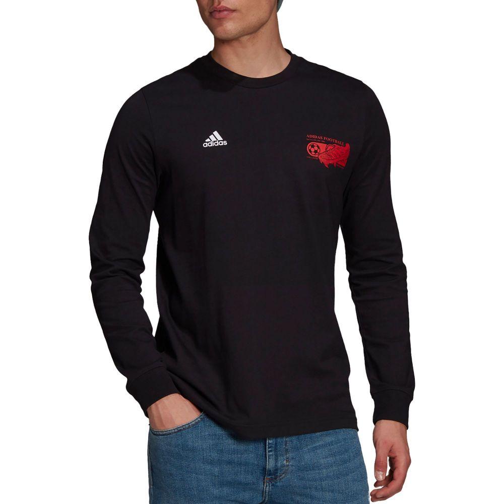 アディダス マーケット メンズ サッカー トップス Black サイズ交換無料 Long Shirt adidas Sleeve Predator 売店 Graphics