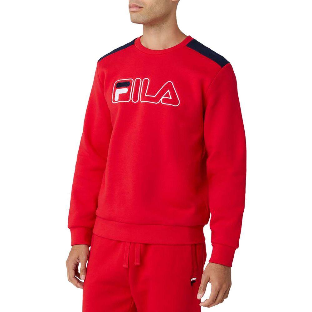 フィラ メンズ スキー・スノーボード トップス Red 【サイズ交換無料】 フィラ Fila メンズ スキー・スノーボード スウェット・トレーナー トップス【FILA Basil 2 Crewneck Sweatshirt】Red