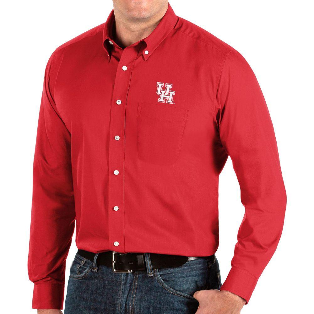アンティグア メンズ トップス シャツ 【サイズ交換無料】 アンティグア Antigua メンズ シャツ トップス【Houston Cougars Dynasty Long Sleeve Button-Down Shirt】