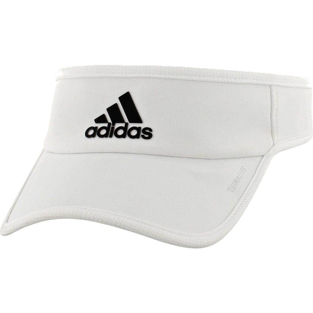 アディダス メンズ 帽子 サンバイザー White/White 【サイズ交換無料】 アディダス adidas メンズ サンバイザー 帽子【SuperLite Visor】White/White