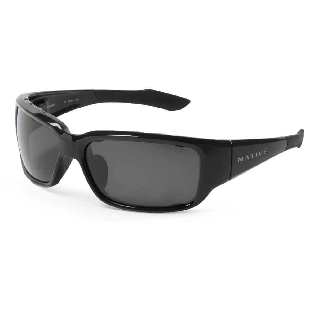 ネイティブアイウェア メンズ ファッション小物 メガネ・サングラス【Bolder Sunglasses - Polarized】Gloss Black/Gray