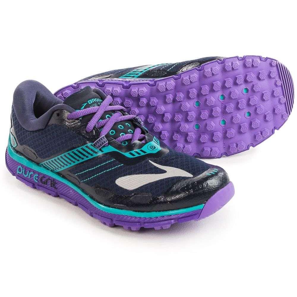 ブルックス レディース ランニング・ウォーキング シューズ・靴【PureGrit 5 Trail Running Shoes】Peacoat/Passionflower/Ceramic