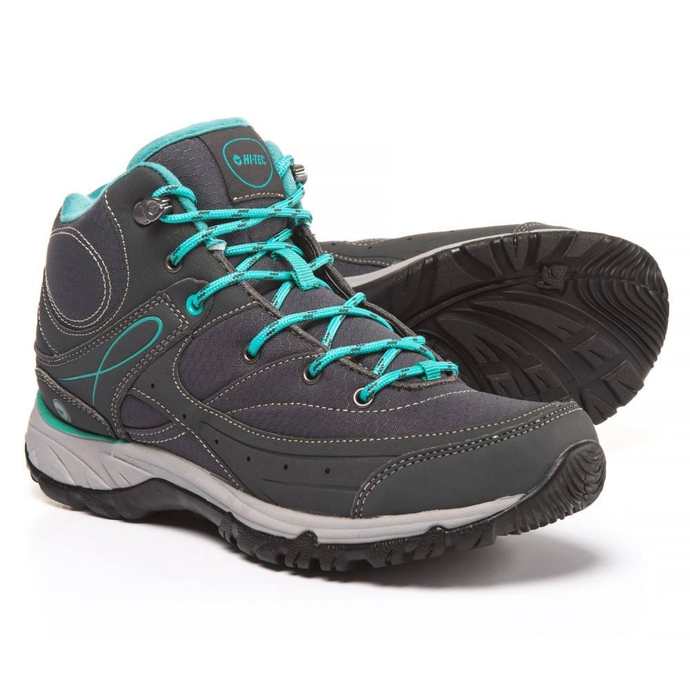 ハイテック レディース ハイキング・登山 シューズ・靴【Equilibrio Bijou Mid Hiking Boots】Charcoal/Tile Blue