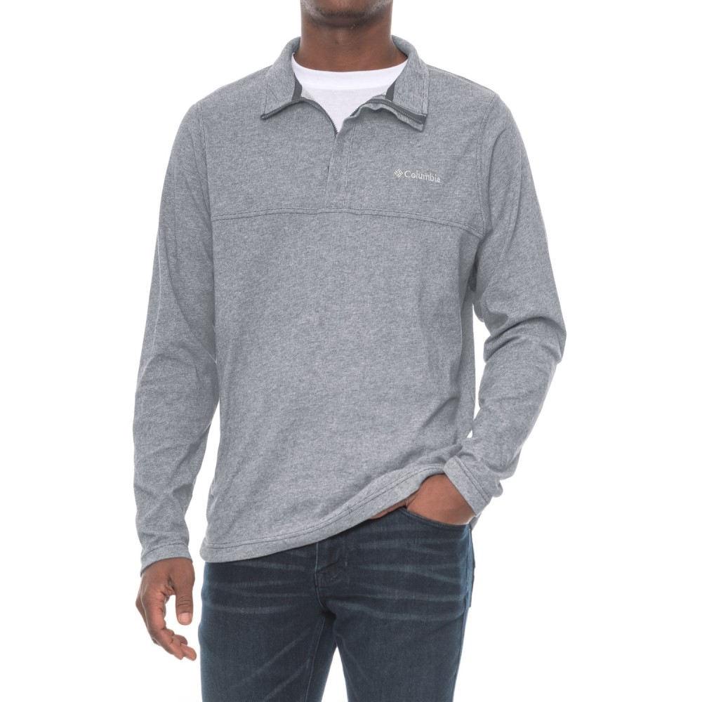 コロンビア メンズ ハイキング・登山 トップス【Colfax Pointe Shirt - Zip Neck, Long Sleeve】Grey Ash