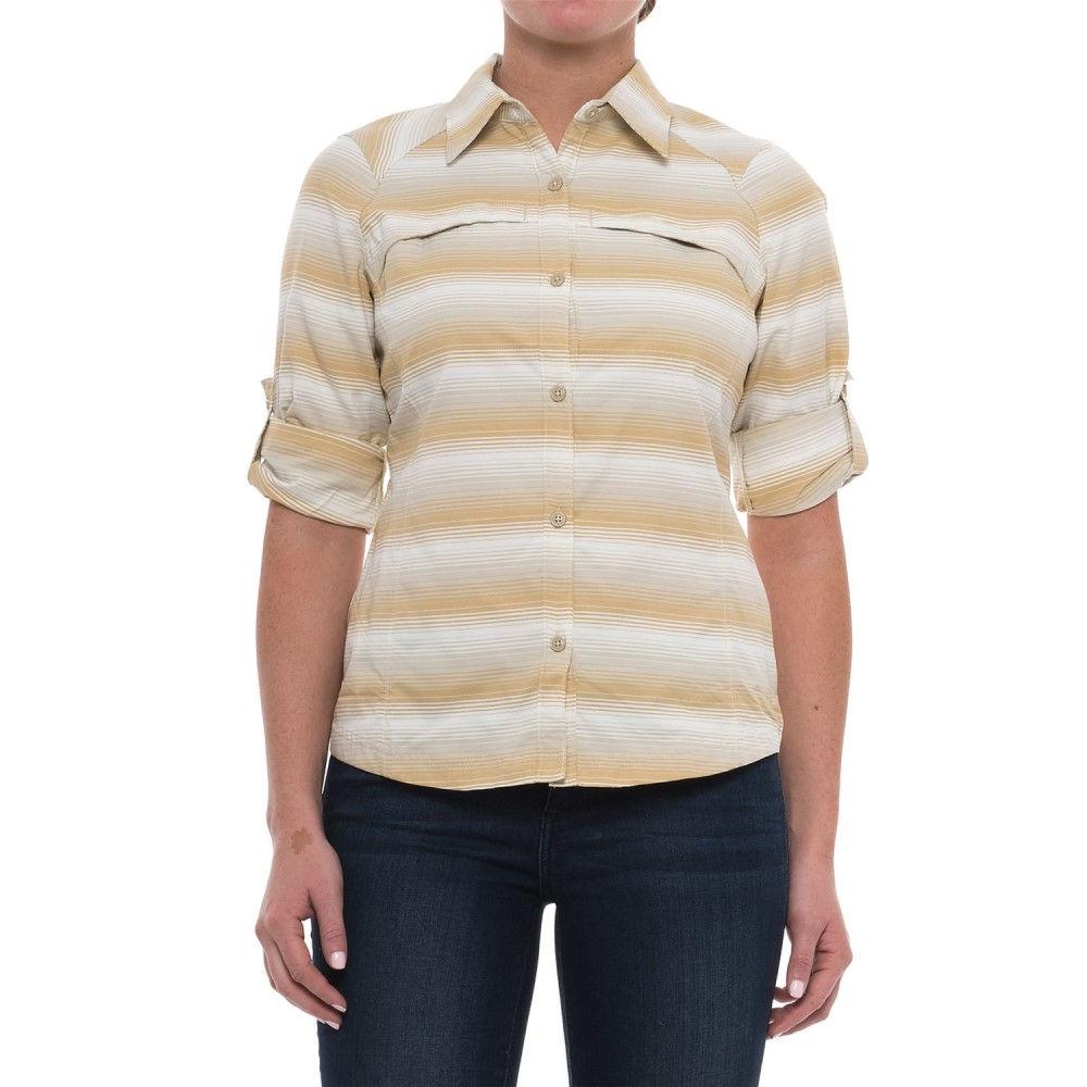 コロンビア レディース ハイキング・登山 トップス【Silver Ridge Ripstop Shirt - UPF 30, Long Sleeve】Fossil Ombre Stripe