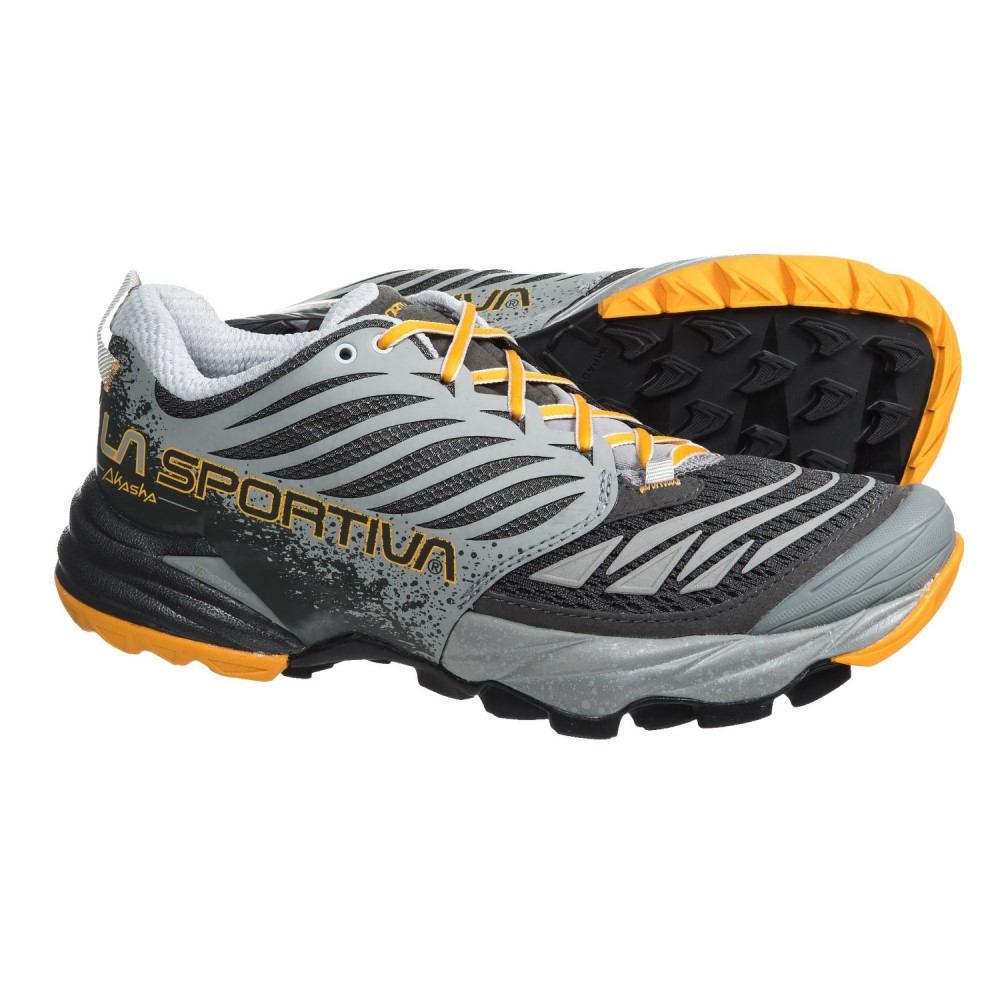 ラスポルティバ レディース ランニング・ウォーキング シューズ・靴【Akasha Trail Running Shoes】Grey/Papaya
