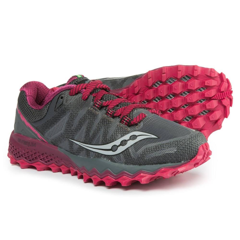 サッカニー レディース ランニング・ウォーキング シューズ・靴【Peregrine 7 Trail Running Shoes】Grey/Berry