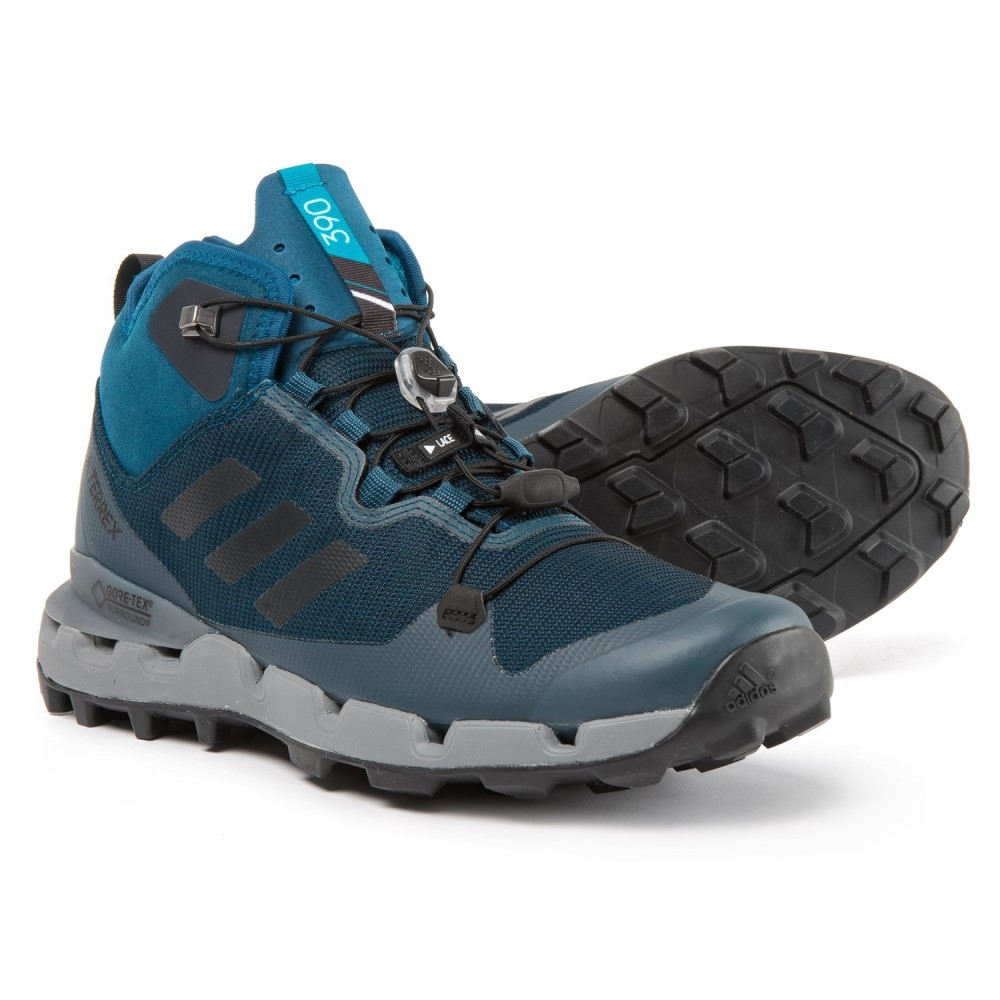 アディダス メンズ ハイキング・登山 シューズ・靴【Terrex Fast Gore-Tex Surround Trail Running Shoes - Waterproof】Blue Night/Black/Grey Three