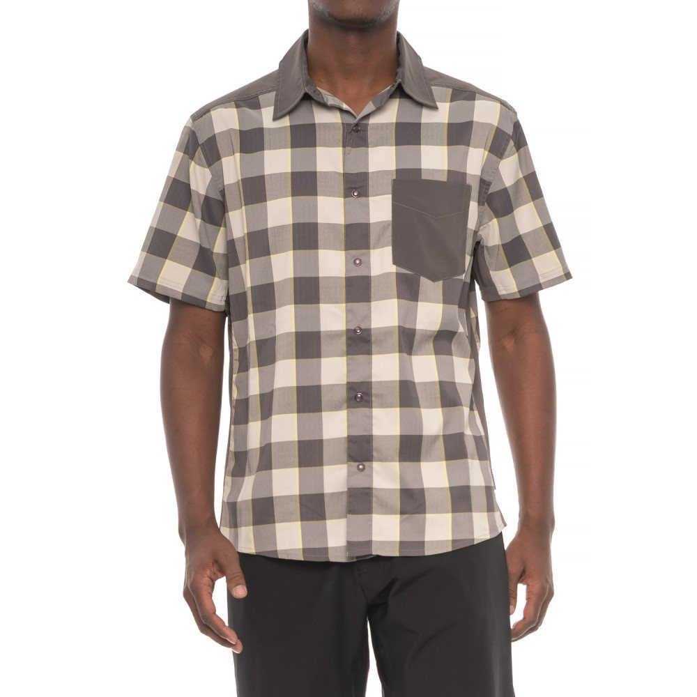 クラブライド メンズ 自転車 トップス【New West Cycling Shirt - UPF 30+, Snap Front, Short Sleeve】Birch Plaid