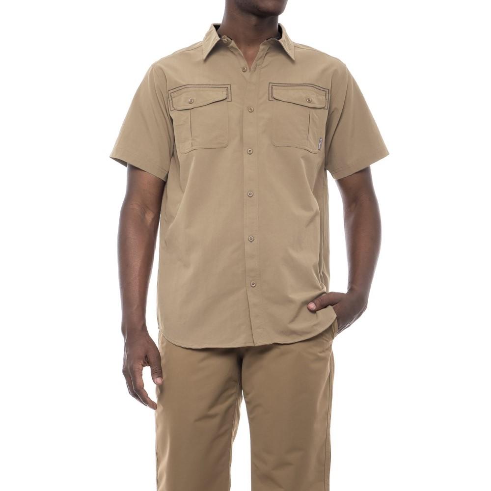 コロンビア メンズ ハイキング・登山 トップス【Twisted Divide Omni-Shade Shirt - UPF 50, Short Sleeve】British Tan