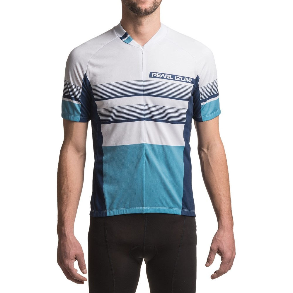 パールイズミ メンズ 自転車 トップス【SELECT LTD Cycling Jersey - UPF 50+, Short Sleeve】Splitz Blue X