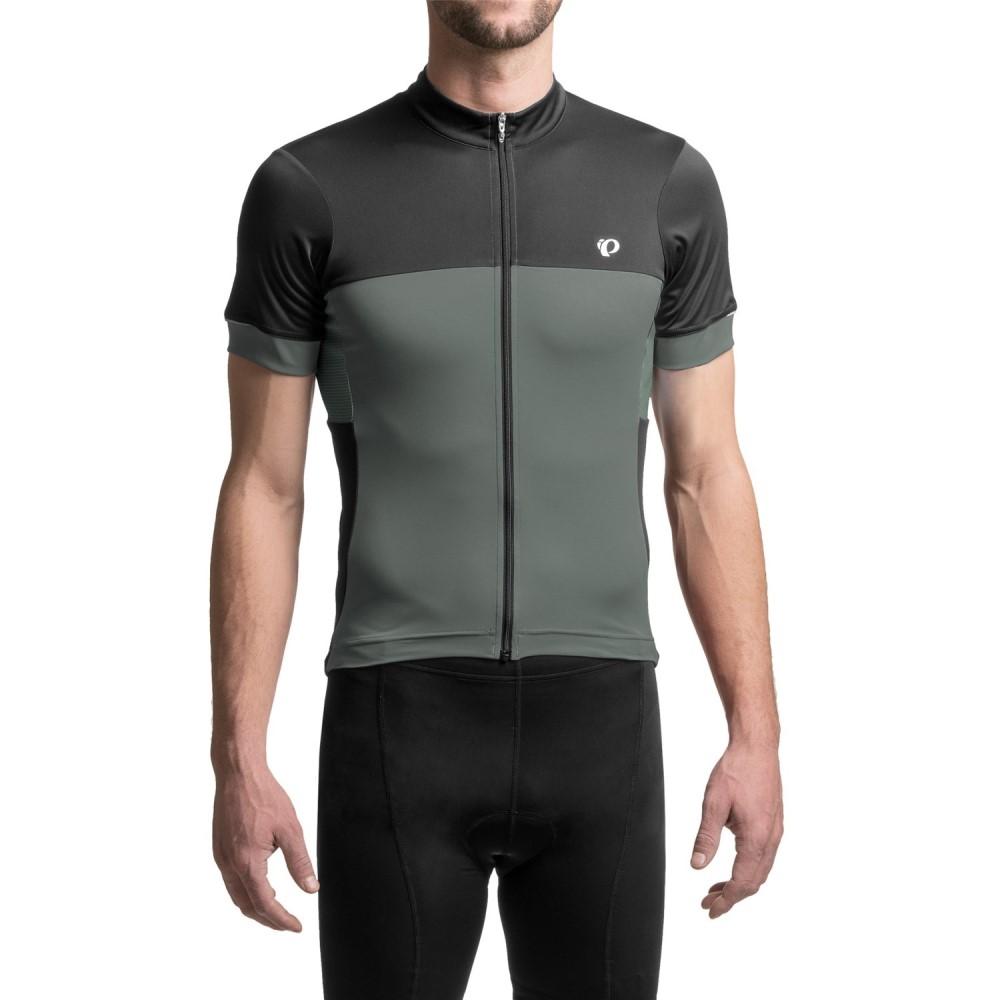 パールイズミ メンズ 自転車 トップス【ELITE Escape Cycling Jersey - Full Zip, Short Sleeve】Cool Stealth
