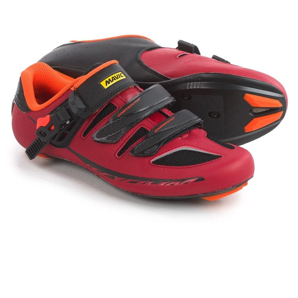 マヴィック メンズ 自転車 シューズ・靴【Ksyrium Elite II Road Cycling Shoes - 3-Hole】Red/Black/Orange