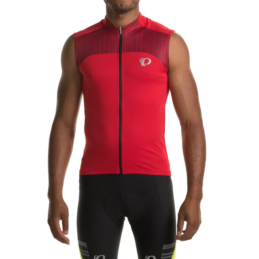 パールイズミ メンズ 自転車 トップス【ELITE Pursuit Cycling Jersey - UPF 50+, Sleeveless】True Red/Chili Pepper