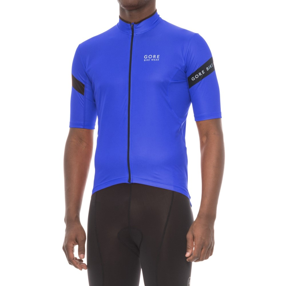 ゴアバイクウェア メンズ 自転車 トップス【Power 3.0 Cycling Jersey - Full Zip, Short Sleeve】Brilliant Blue/Black