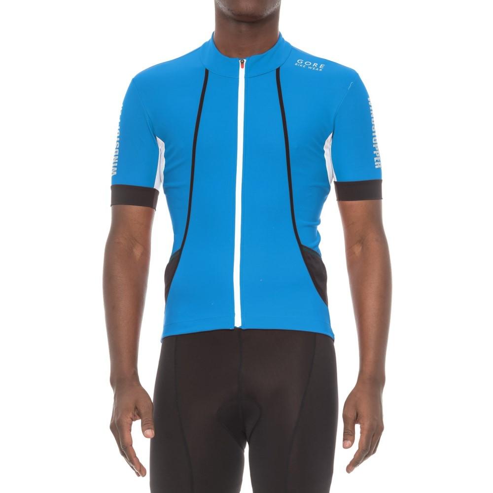 ゴアバイクウェア メンズ 自転車 トップス【Oxygen Windstopper Cycling Jersey - Short Sleeve】Splash Blue/White