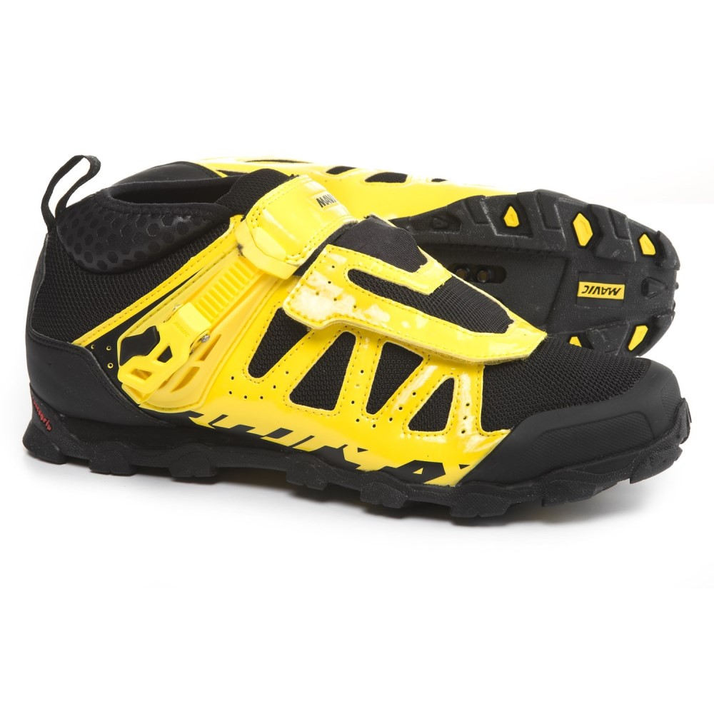 マヴィック メンズ 自転車 シューズ・靴【Crossmax XL Pro Mountain Bike Shoes - SPD】Yellow Mavic/Black/Black