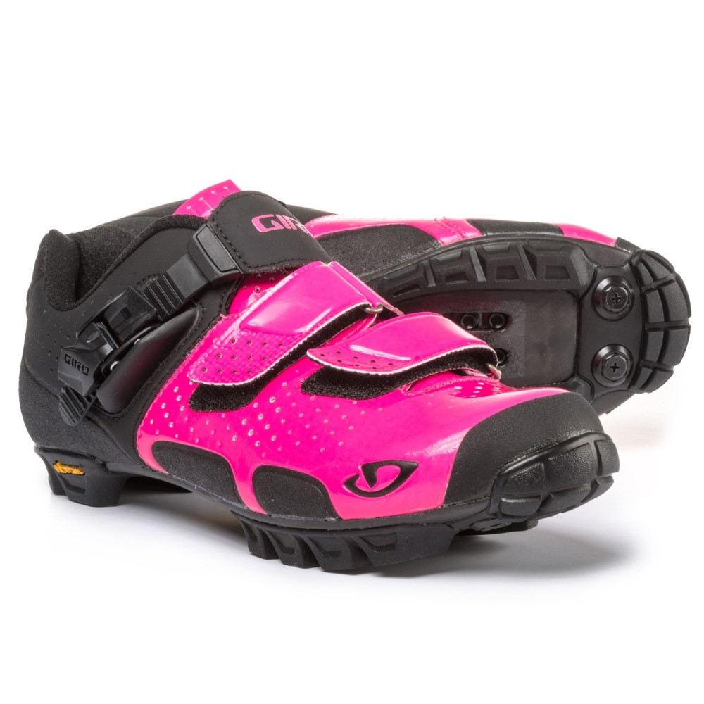 ジロ メンズ 自転車 シューズ・靴【Sica VR70 Mountain Bike Shoes - SPD】Bright Pink/Black