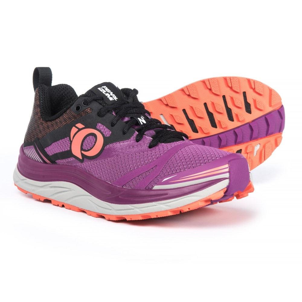 パールイズミ レディース ランニング・ウォーキング シューズ・靴【E:MOTION Trail N3 Running Shoes】Purple Wine/Clementine