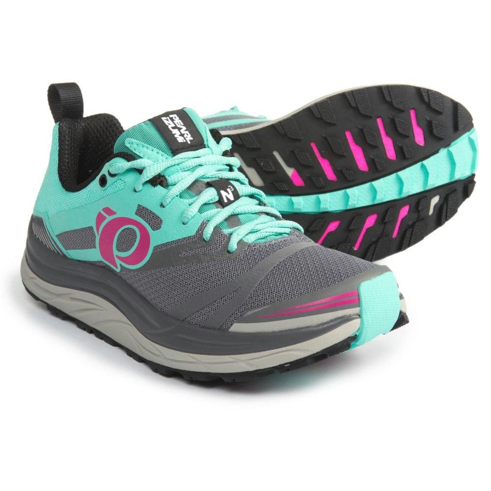 パールイズミ レディース ランニング・ウォーキング シューズ・靴【E:MOTION Trail N3 Running Shoes】Smoked Pearl/Aqua Mint