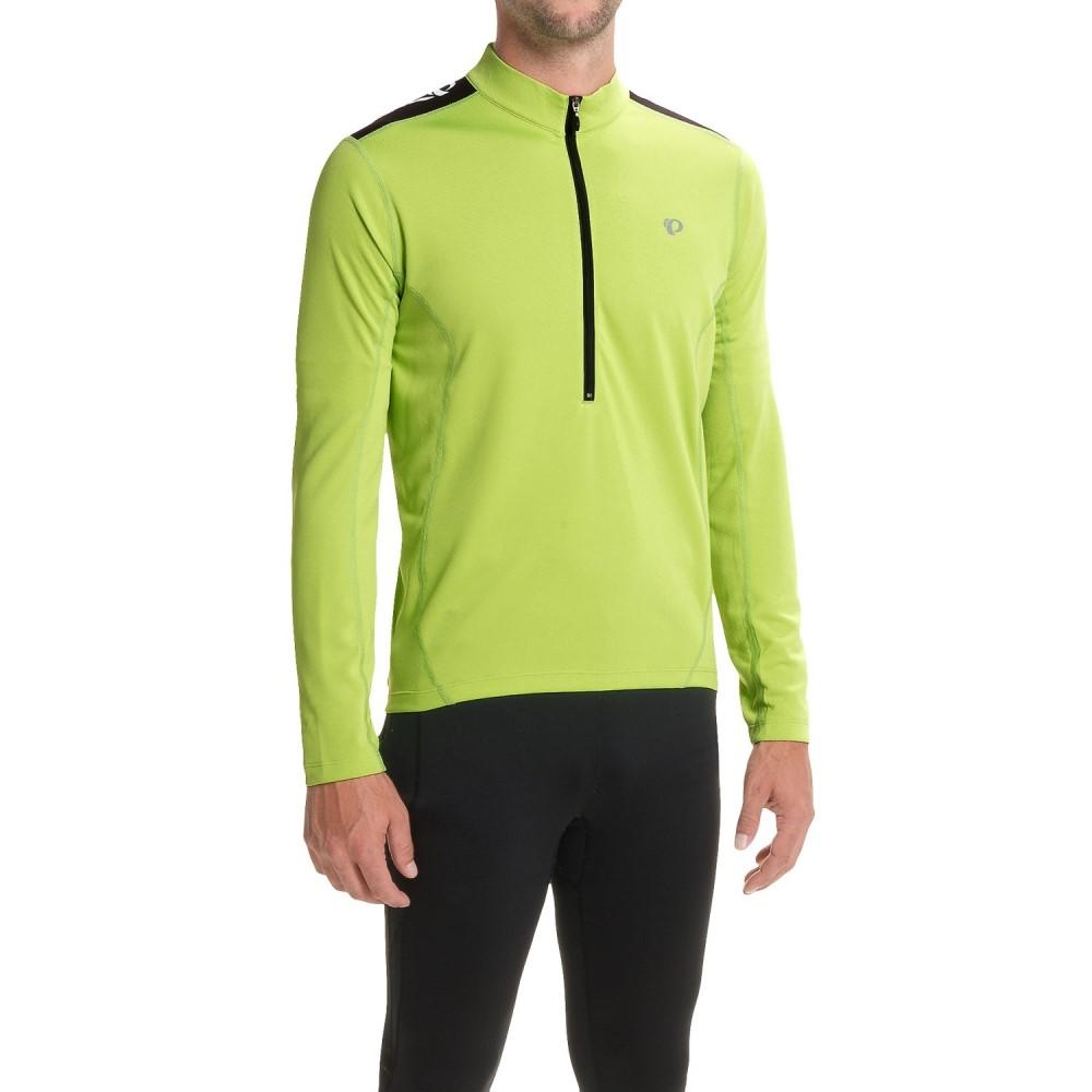 パールイズミ メンズ 自転車 トップス【Quest Cycling Jersey - Long Sleeve】Citron