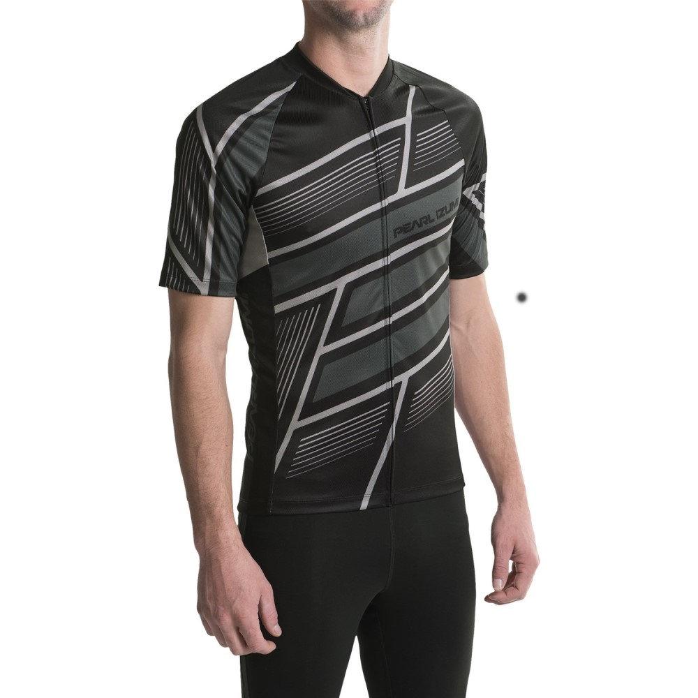 パールイズミ メンズ 自転車 トップス【MTB LTD Cycling Jersey - Full Zip, Short Sleeve】Block Black