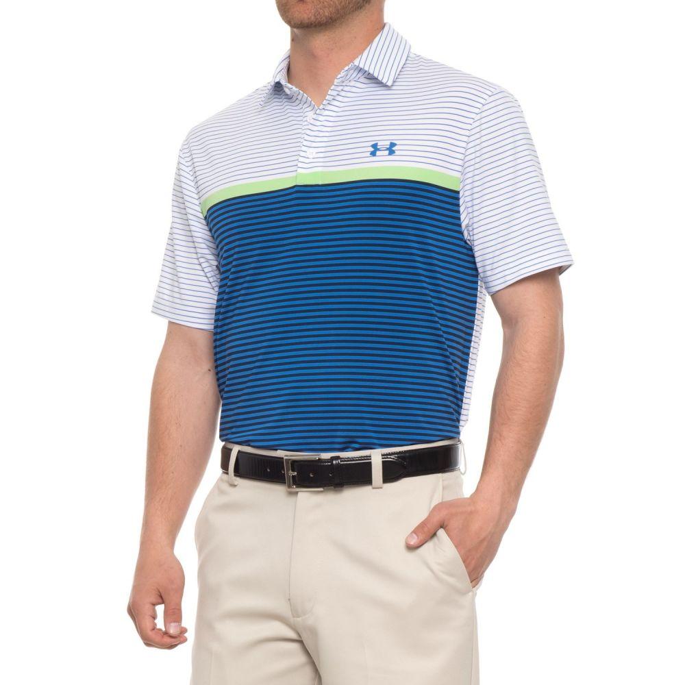 アンダーアーマー メンズ ハイキング・登山 トップス【Playoff Polo Shirt - Short Sleeve】White/Mediterranean