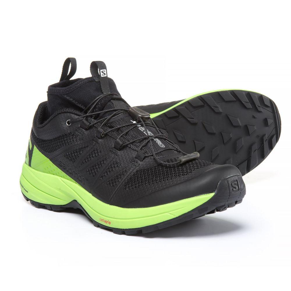 サロモン メンズ ランニング・ウォーキング シューズ・靴【XA Enduro Trail Running Shoes】Black/Lime Green/Black