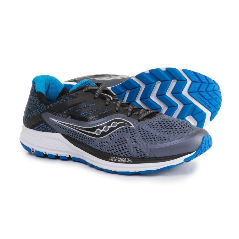 サッカニー メンズ ランニング・ウォーキング シューズ・靴【Ride 10 Running Shoes】Grey/Black/Blue