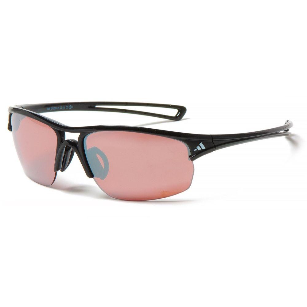 アディダス メンズ スポーツサングラス【A405 Raylor S Sport Sunglasses】Shiny Black/Lst Active Silver