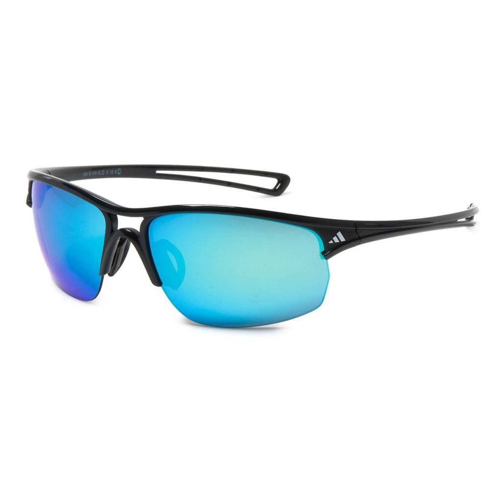 アディダス メンズ スポーツサングラス【A404 Raylor L Sport Sunglasses】Shiny Black/ Gray