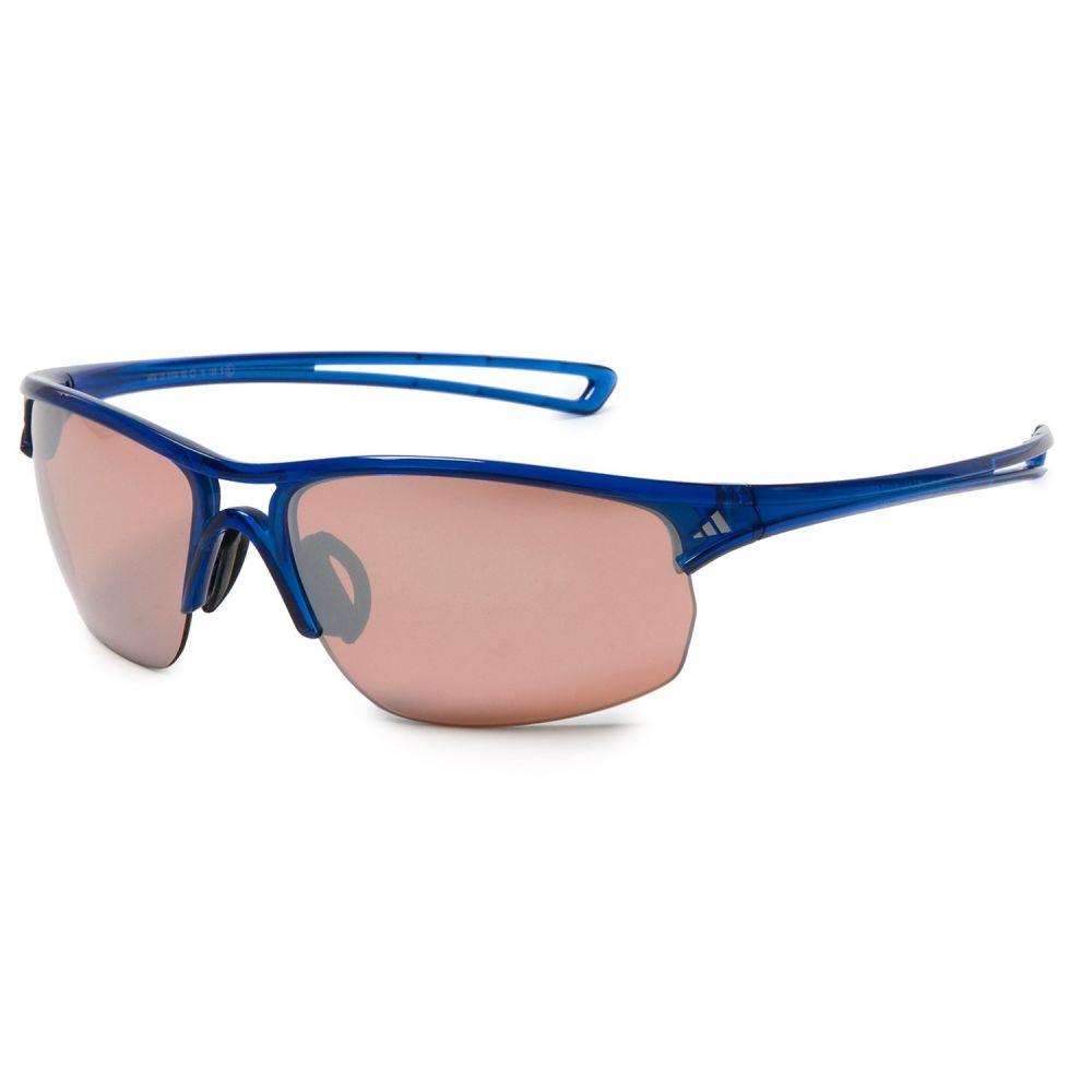アディダス メンズ スポーツサングラス【A404 Raylor L Sport Sunglasses】Transparent Blue/ Lst Active Silver