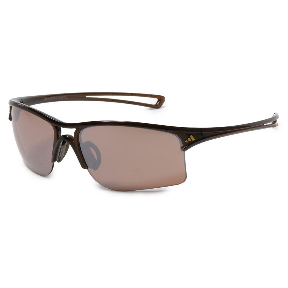 アディダス メンズ スポーツサングラス【A404 Raylor L Sport Sunglasses】Shiny Brown/ Lst Contrast Silver