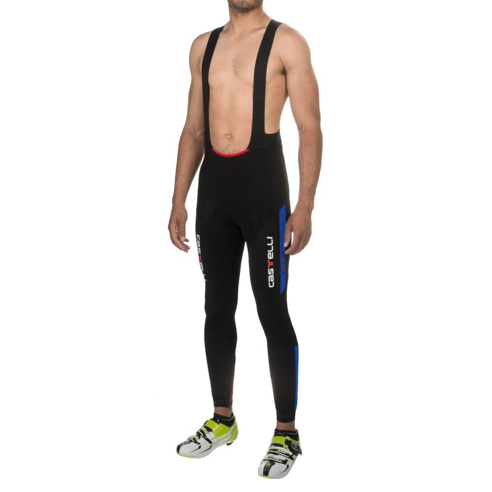 カステリ メンズ 自転車 ボトムス・パンツ【Sorpasso Cycling Bib Tights】Black/Drive Blue