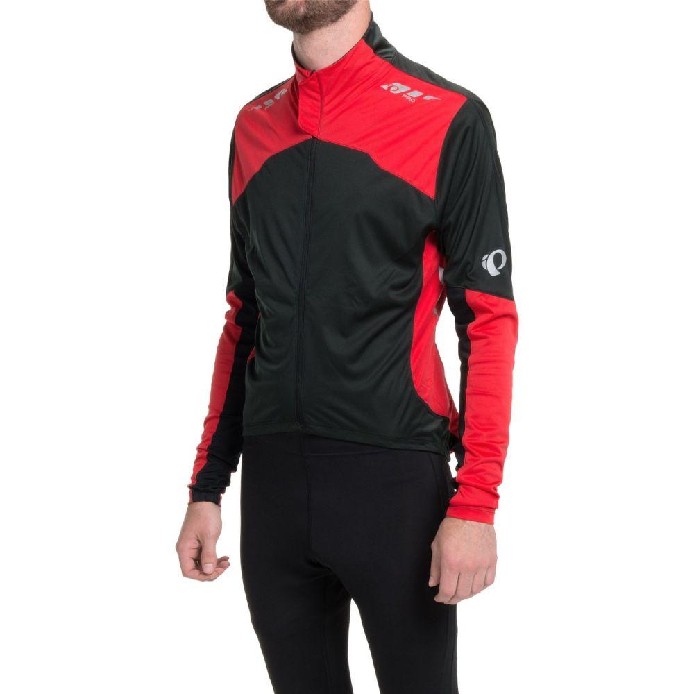 パールイズミ メンズ 自転車 トップス【P.R.O. Aero Cycling Jersey - Full Zip, Long Sleeve】Black/True Red