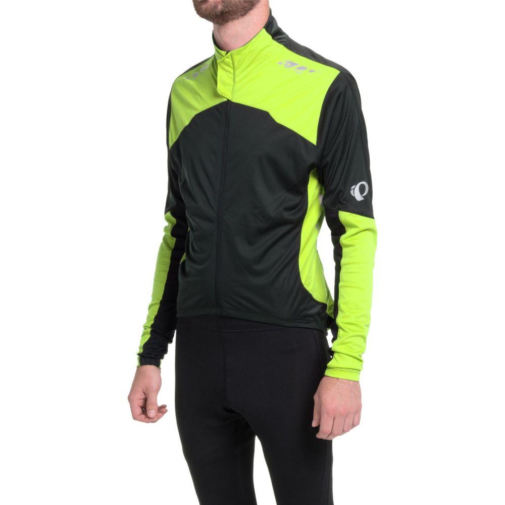 パールイズミ メンズ 自転車 トップス【P.R.O. Aero Cycling Jersey - Full Zip, Long Sleeve】Black/Screaming Yellow