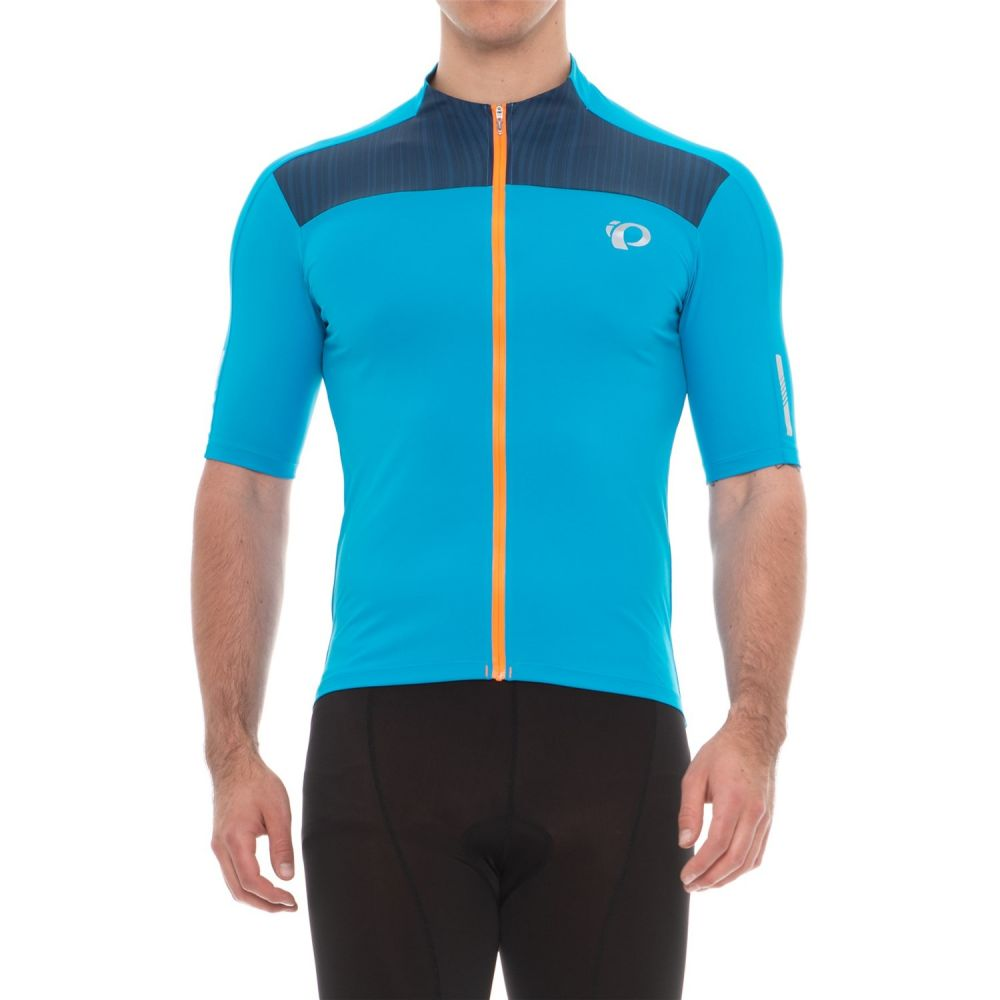 パールイズミ メンズ 自転車 トップス【ELITE Pursuit Cycling Jersey - UPF 50+, Full Zip, Short Sleeve】Bel Air Blue/Blue Depths Rush