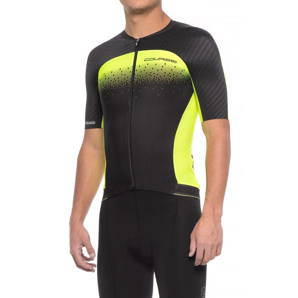 ルイガノ メンズ 自転車 トップス【Course M-2 Cycling Jersey - UPF 50, Short Sleeve】Black/Bright Yellow