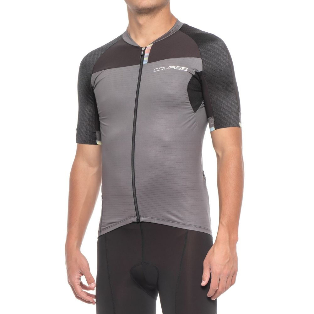 ルイガノ メンズ 自転車 トップス【Elite M-2 RTR Cycling Jersey - UPF 50, Short Sleeve】Gray/Black