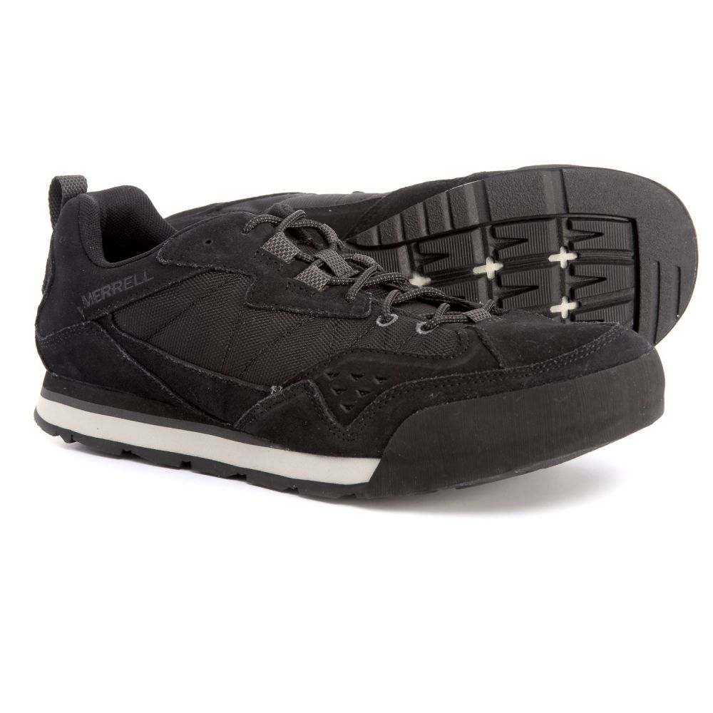 メレル メンズ シューズ・靴 スニーカー【Burnt Rock Tura Rugged Casual Sneakers - Suede】Jet Black