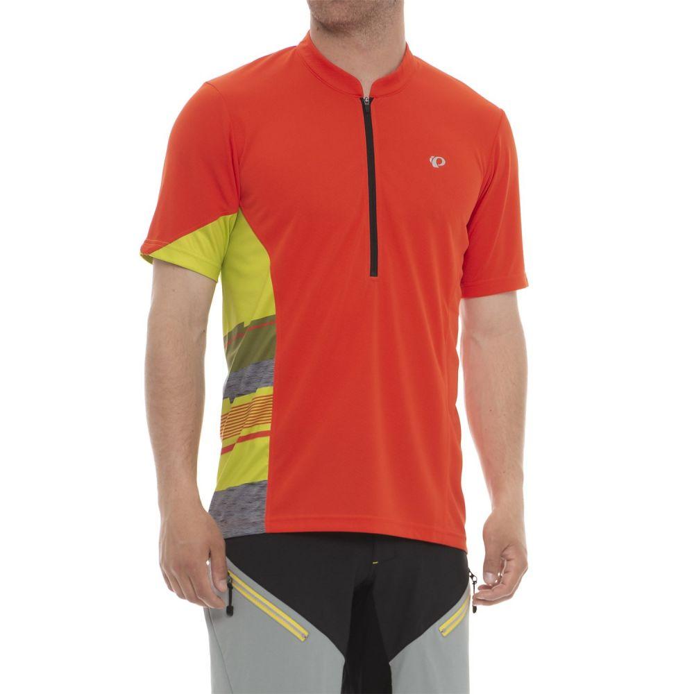 パールイズミ メンズ 自転車 トップス【Journey Cycling Jersey - Zip Neck, Short Sleeve】Orange.Com / Citron