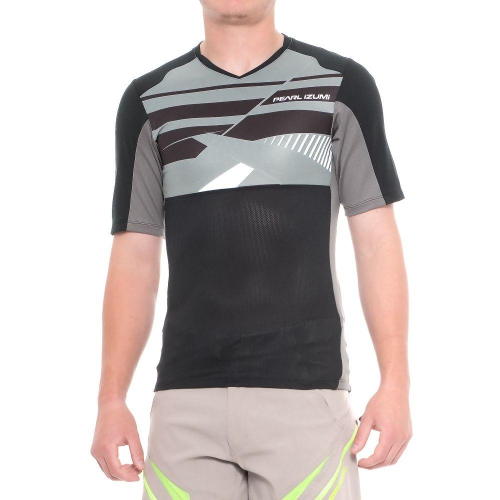 パールイズミ メンズ 自転車 トップス【Launch Mountain Bike Jersey - V-Neck, Short Sleeve】Black/Smoked Pearl