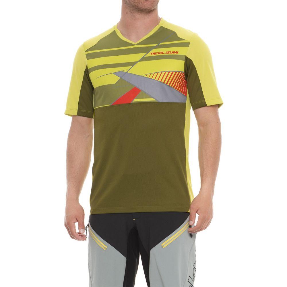 パールイズミ メンズ 自転車 トップス【Launch Mountain Bike Jersey - V-Neck, Short Sleeve】Citron / Avocado